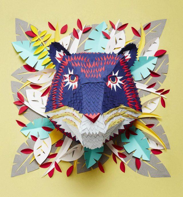 Incríveis máscaras de papel de Mlle Hipolyte!