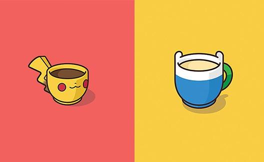 Cartoons famosos transformados em copos de café! 1