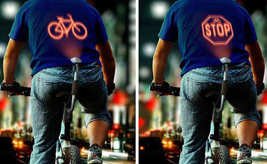Device de bicicleta sinaliza as costas de ciclista! 5