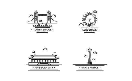 vitrine-12-icones-premium-cartoes-postais-vetor-gratis