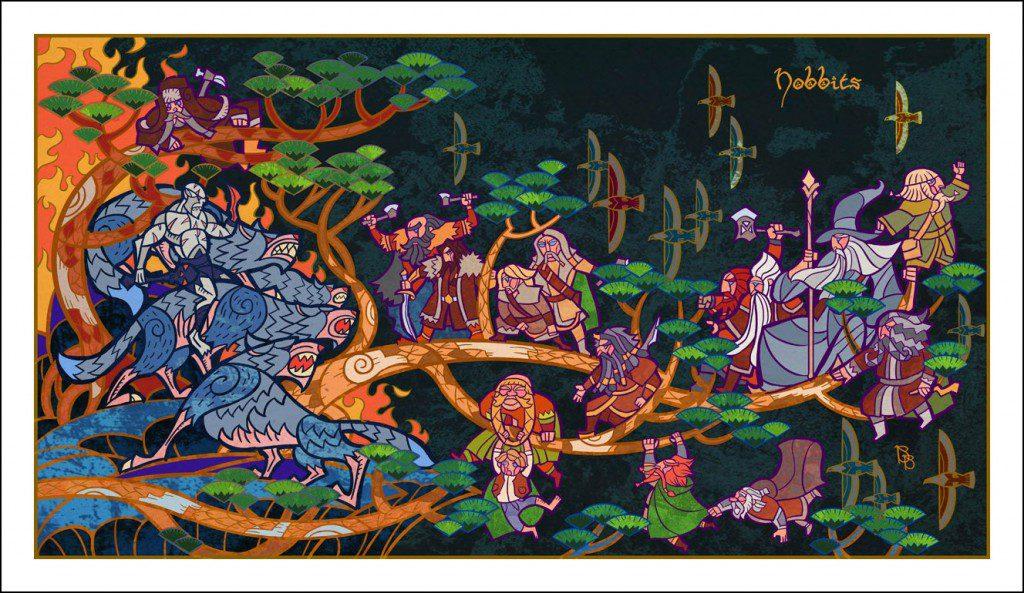 Vitrais inspirados em Senhor dos Aneis Hobbit Tolkien 1