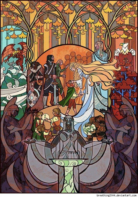 Vitrais inspirados em Senhor dos Aneis Hobbit Tolkien 2