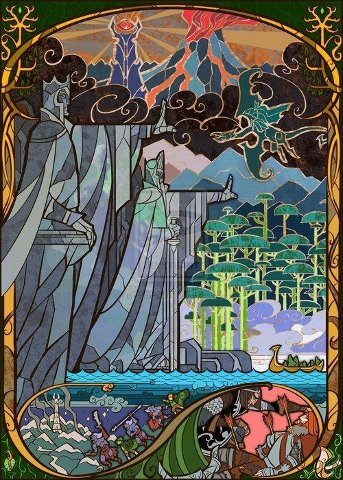 Vitrais inspirados em Senhor dos Aneis Hobbit Tolkien 4
