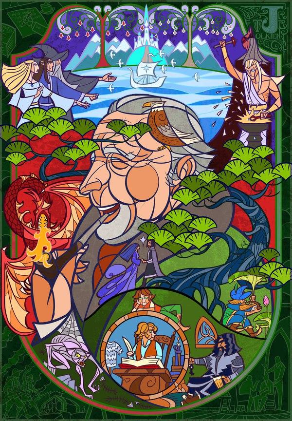 Vitrais inspirados em Senhor dos Aneis Hobbit Tolkien 5