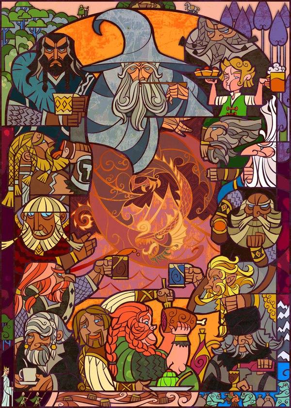 Vitrais inspirados em Senhor dos Aneis Hobbit Tolkien 6
