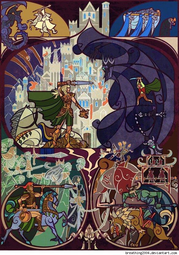 Vitrais inspirados em Senhor dos Aneis Hobbit Tolkien 7