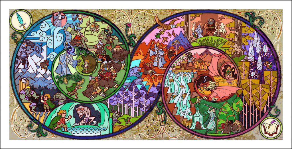 Vitrais inspirados em Senhor dos Aneis Hobbit Tolkien 8