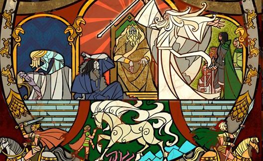 Vitrais inspirados em Senhor dos Anéis (Tolkien está orgulhoso)! 9