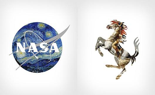Logos de sucesso e pinturas clássicas se encontram na Logo+Art! 1