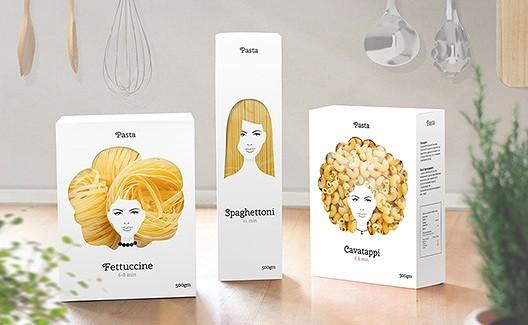 A embalagem criativa do macarrão Good Hair Day Pasta! 2