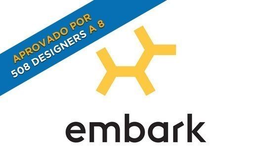 Este logotipo é tão genial que chega a ser perturbador (logo da Embark)! 8