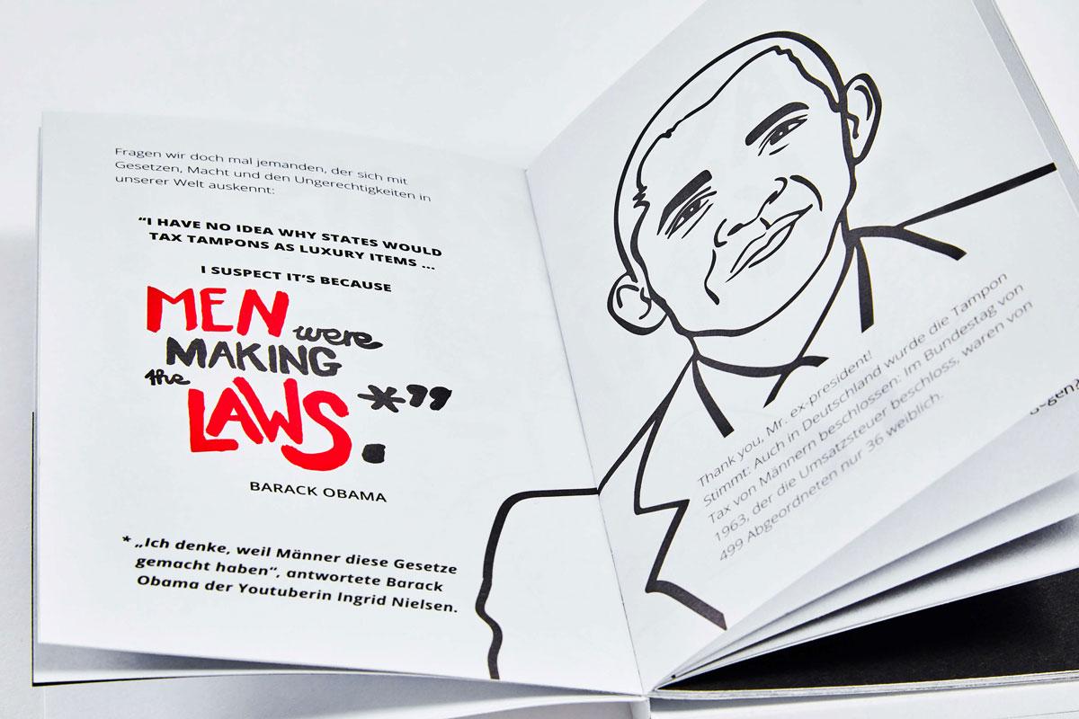 Livro com absorventes (The Tampon Book)