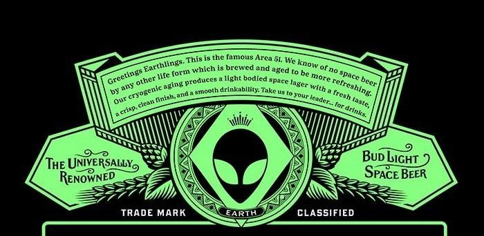 Storytelling no rótulo da Bud Light Area 51