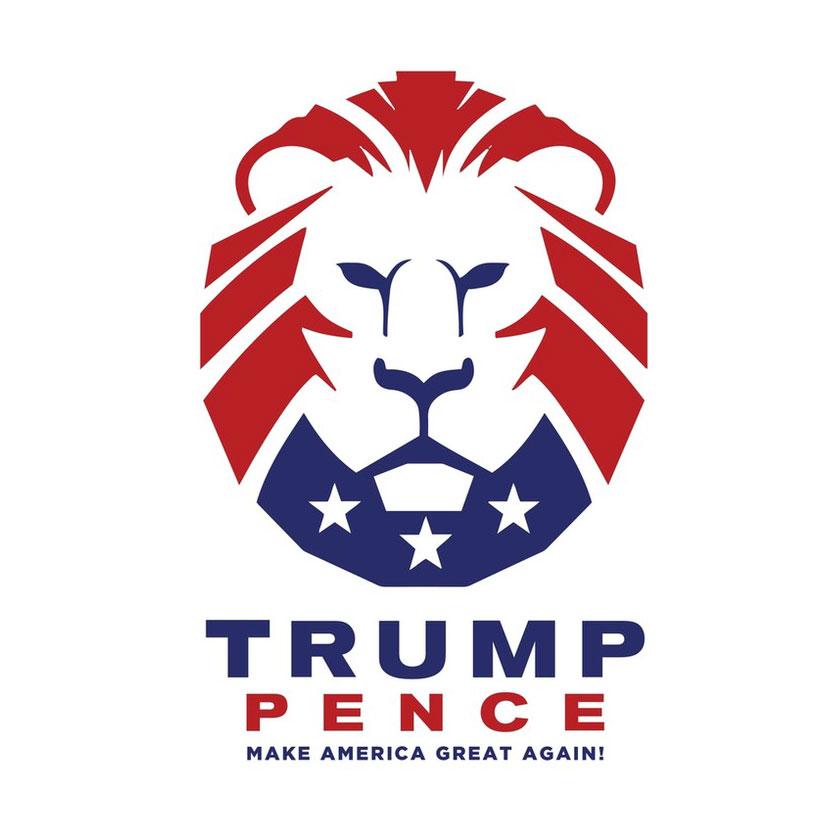 Logo de campanha presidencial do Trump em 2020